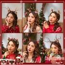 聖誕髮飾 圣誕節頭飾可愛鹿角森系髮卡圣誕髮夾髮箍少女心髮飾頭箍節日飾品耶誕節