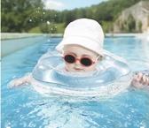 嬰兒游泳圈0-12個月寶寶脖圈新生兒充氣頸圈防后仰加厚雙氣囊