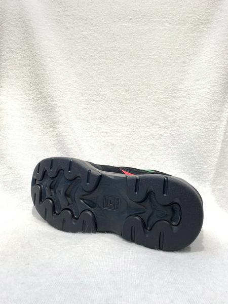 FILA RAY GUCCI 中性款黑綠色厚底增高休閒老爹鞋4C101T362