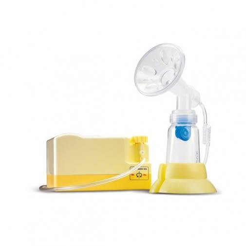 【121婦嬰用品館】原廠總代理公司貨 貝瑞克 6S 第六代豪華手電動兩用吸乳器(黃)
