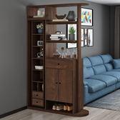 玄關櫃 進門玄關櫃隔斷櫃客廳現代簡約可旋轉多功能鞋櫃一體帶鏡子門廳櫃