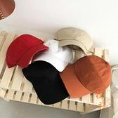 軟頂百搭鴨舌帽休閒彎檐運動帽純色棒球帽子【橘社小鎮】