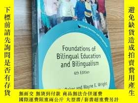 二手書博民逛書店Foundations罕見of Bilingual Education and BilingualismY17