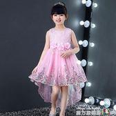 兒童裙春夏童裝連衣裙兒童禮服主持公主裙女童婚紗蓬蓬裙花童鋼琴表演服 魔方數碼館