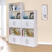ONE HOUSE-DIY-北歐二代五層雙門展示架/雙面隔間櫃/書櫃/書架/高低櫃