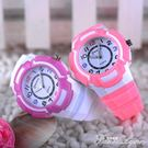 新品兒童手錶中小學生男女孩電子錶 夜光防水潮石英錶時尚果凍錶  范思蓮恩