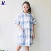 【秋冬降價款】American Bluedeer - 長版格子襯衫(特價) 秋冬新款
