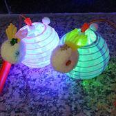 中秋節兒童燈籠手提LED花燈diy布燈櫻花兔子燈籠 春節手持小燈籠 js8096『小美日記』