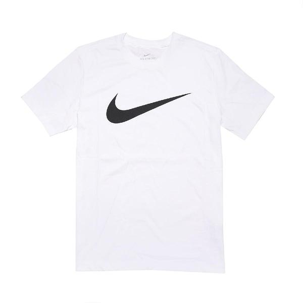 Nike 短袖T恤 NSW Swoosh 白 黑 男款 短T 運動休閒 【ACS】 DC5095-100