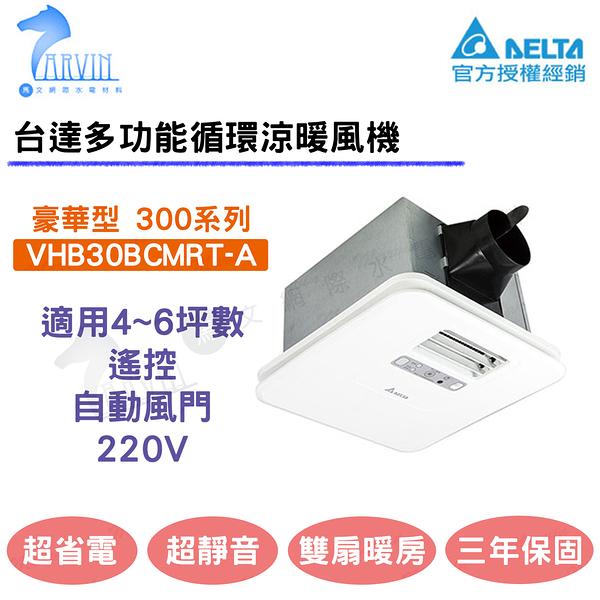 台達電直流暖風扇 VHB30BCMRT-A 220V 遙控/自動風門 豪華型暖風機 省電款 暖房多功能雙風扇