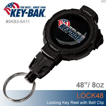 美國KEY BAK Lock 48 可鎖定伸縮鑰匙圈(公司貨)#0KB2-6A11