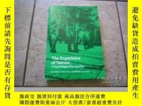 二手書博民逛書店The罕見Experience Of NatureY256260 Kaplan, Stephen Ulrich