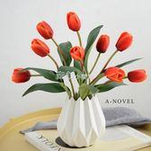 鬱金香模擬花套裝擺件假花客廳室內裝飾花擺設小盆栽擺件餐桌花藝   走心小賣場YYP
