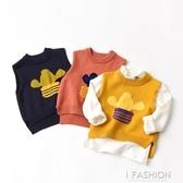 兒童針織仙人掌馬夾 男童童圓領洋氣小馬甲  有厚度 百搭上衣-ifashion