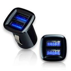 [哈GAME族]現貨 aibo AB236 方形迷你 LED夜光 雙USB車用充電器 黑色 最大輸出3.1A USB 適用手機