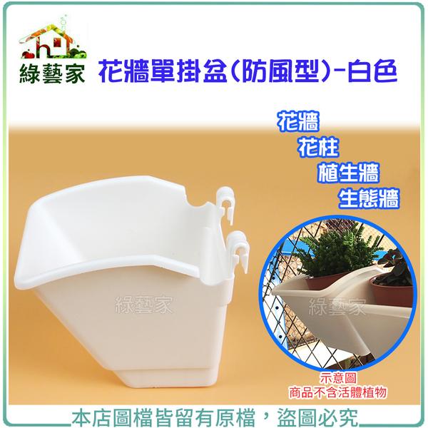 【綠藝家】花牆單掛盆(防風型)-白色