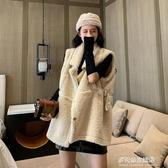 羊羔毛馬甲外套女-秋冬復古中長款羊羔毛馬甲外套女新款寬鬆百搭無袖馬夾上衣潮 多麗絲
