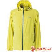 Wildland 荒野 0A51906-34檸檬黃 男 彈性透氣抗UV輕薄外套 彈性延展/輕薄透氣/連帽防曬/運動休閒外套