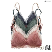 法式三角杯性感文胸無鋼圈超薄內衣蕾絲薄款女bra胸罩【君來佳選】