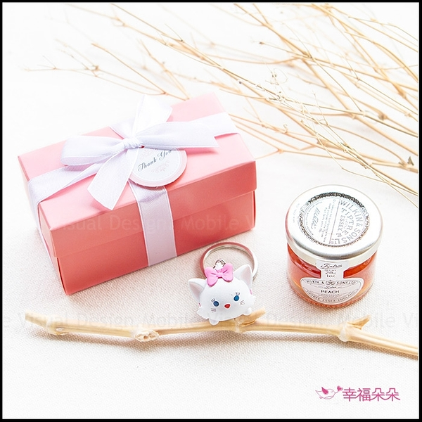 Double Love Pink盒裝 迪士尼tsumtsum鑰匙圈+果醬小禮盒 婚禮小物 生日分享 Tiptree