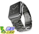 [105美國直購] 蘋果錶帶 Apple Watch Band HCE Stainless Steel Link Bracelet 42mm Sport All Models Double Button FB01D1COKWM