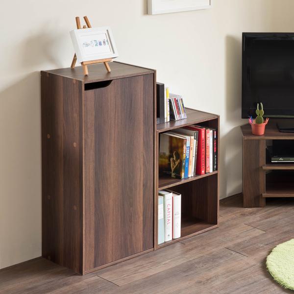 書櫃 堆疊 收納 【收納屋】家居E1三格一門櫃&DIY組合傢俱