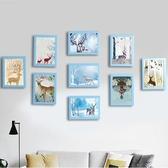 照片牆 裝飾品餐廳臥室牆面創意相框牆樓梯掛牆組合相片牆 鹿角巷