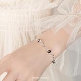 【新飾界】天然石榴石手鍊女純銀水晶手串
