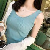 冰絲吊帶chic小背心女韓版外穿修身無袖T恤針織內搭打底衫 錢夫人小鋪