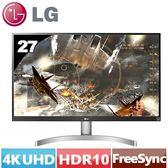 LG 27型 IPS 4K UHD電競螢幕 27UK600-W