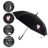 樂嫚妮 自動開傘/直立雨傘-英文塗鴉風