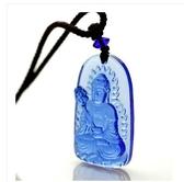 古法佛像琉璃藥師佛藍如來吊墜項鍊吉祥掛件運招財辟邪保平安