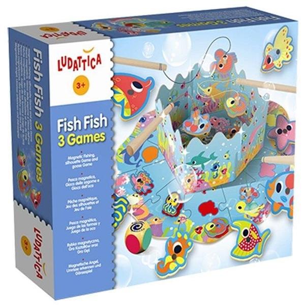【南紡購物中心】【樂桌遊】海洋派對Fish Fish 3 Games(英文版) 47048