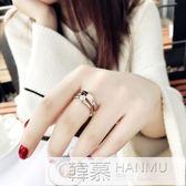 食指鈦鋼戒指女不掉色日韓玫瑰金潮人網紅學生個性大氣時尚指環女 韓幕精品