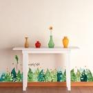 【半島良品】壁貼 DIY創意無痕 牆貼 貼紙-  熱帶樹葉 50x70_XH7221