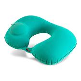 按壓式充氣U型枕 19-00025 充氣枕.頭靠枕.護頸枕.午睡枕.旅行枕.飛機枕.辦公室 U型枕 (顏色隨機出貨)