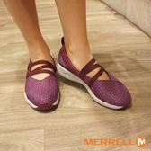 MERRELL 1SIX8 MJ AC+ 輕量透氣休閒娃娃鞋 醇紫紅 ML45704 女鞋