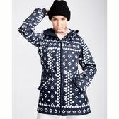 BILLABONG JARA專業滑雪外套 圖騰藍 JSNJQJARNVB【GO WILD】