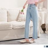 高含棉愛心口袋直筒牛仔褲 OrangeBear《BA6326》