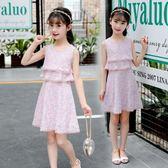 洋裝 6女童夏裝洋裝7兒童夏季8中大童9韓版10女孩衣服12歲小學生裙子 芭蕾朵朵