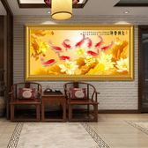 九魚圖 風水招財客廳沙髮背景牆裝飾畫現代簡約高檔年年有余掛畫·享家生活館IGO