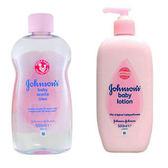 義大利 Johnsons 嬰兒油-原始香味(16.9oz)*2+乳液*2