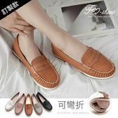 包鞋.超軟縫線休閒包鞋(米白、棕、黑)-FM時尚美鞋.Vacation