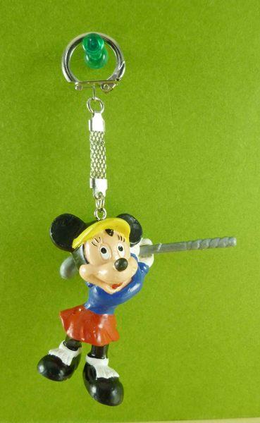 【震撼精品百貨】Micky Mouse_米奇/米妮 ~鎖圈-米妮高爾夫
