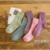 堆堆襪襪子女加厚長春秋保暖棉襪刷毛秋季棉質毛線羊毛中筒襪冬季(一件免運)