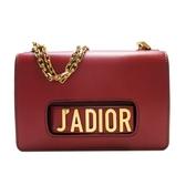 Dior 迪奧 紅色牛皮手拿包單肩包 J Adior Chain Flap Shoulder Bag【BRAND OFF】