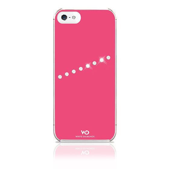 {新安} 蘋果 Apple IPhone 5/5S SE WD施華洛世奇斜紋水鑽背蓋 手機殼 奢華高貴不貴 (桃紅) 現貨