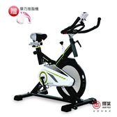 送專用地墊+摩力推脂機✩輝葉 黑騎士飛輪健身車(全罩式鑄鐵鏡面飛輪)