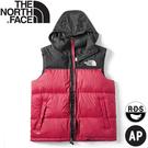 【The North Face 男 ICON經典配色鵝絨背心《黑/紅》】496T/羽絨背心/保暖背心