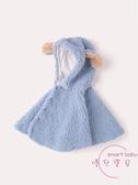 兒童披風 冬季鋪棉洋氣披風寶寶可愛外出防風披肩女童冬裝外套【快速出貨】